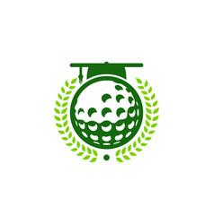 school golf logo icon design vector image