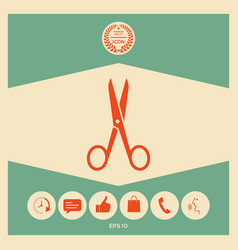 scissors icon symbol vector image