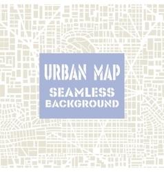 Seamless map city plan vector image
