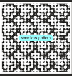 seamless patterns with halftone dots 10 vector image