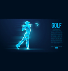 silhouette a golf player golfer from particles vector image