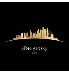 Singapore skyline Detailed silhouette vector