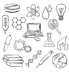 sketch science images vector image