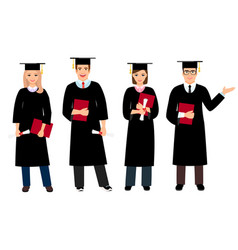 Student graduation set vector