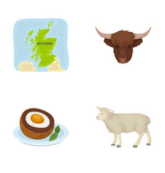 Territory on the map bull s head cow eggs vector