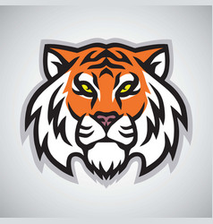 tiger head logo template mascot design vector image