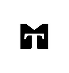 tm mt logo initial monogram icon vector image