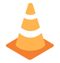 Traffic cone flat icon vector