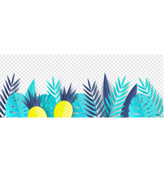 tropical leaves and vector image