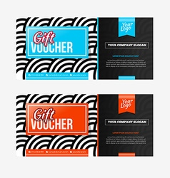 Two coupon voucher design Gift voucher template vector image