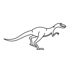 velyciraptor icon outline style vector image