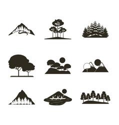 Wanderlust travel landscapes vector