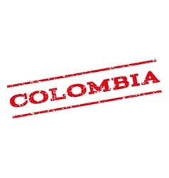 Colombia Watermark Stamp vector image