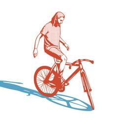Girl cyclist vector image vector image