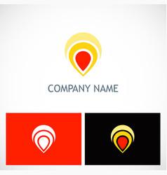 pin position gps technology logo vector image