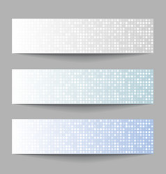 Set of Technology pixel banners vector image vector image