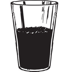 Glass of cola vector