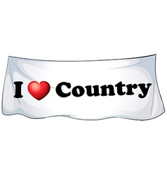 I love country vector image