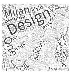 online fashion design schools Word Cloud Concept vector image