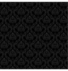 Seamless Damask Wallpaper 3 Gray Color vector image vector image