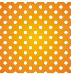 Seamless pattern white polka dots on yellow vector image vector image