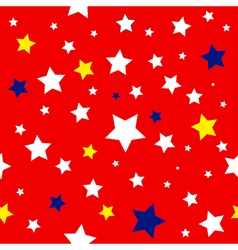 Stars Red White Yellow Blue Pattern vector image vector image