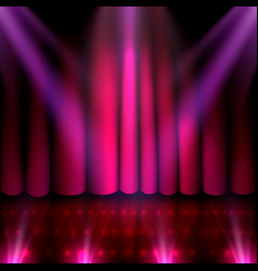 the stage of the show and the show with bright vector image