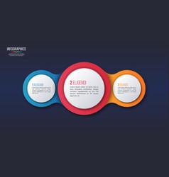 3 options infographic design presentation vector image