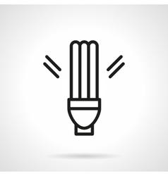 Fluorescent lamp simple line icon vector image
