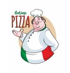 Italian cheef label vector image vector image