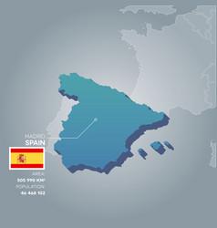 norway information map vector image