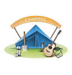 camping zone vector image vector image