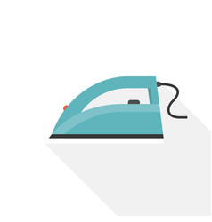 iron icon in flat design for laundry service vector image vector image