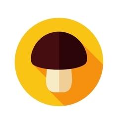 Mushroom flat icon with long shadow vector image vector image