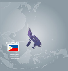 philippines information map vector image
