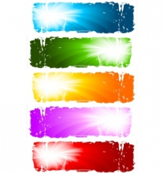 swirl banners vector collection vector image vector image