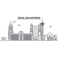 texas san antonio architecture line skyline vector image vector image