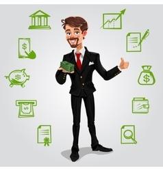 3d businessman vector