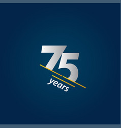 75 years anniversary celebration blue and white vector