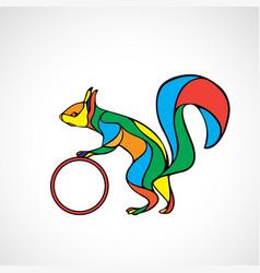 abstract squirrel color wavy vector image