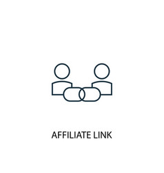 Affiliate link concept line icon simple element vector