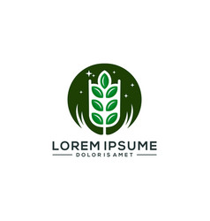 agriculture logo template vector image
