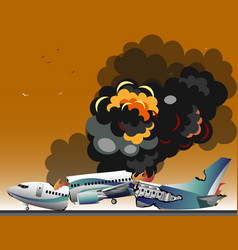 Aircraft accidents isolated vector