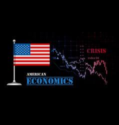 american economy with usa flag vector image