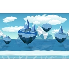 Arctic seamless cartoon landscape endless pattern vector image