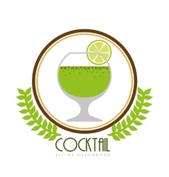 beverage menu design vector image