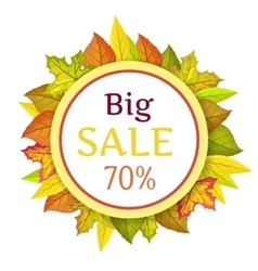 Big Autumn Sale Concept in Flat Design vector