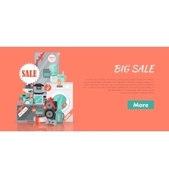 Big Super Web Sale Banner Household Appliances vector