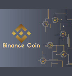 binance coin cryptocurrency circuit style vector image