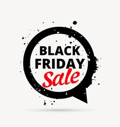 black friday sale design in chat bubble vector image